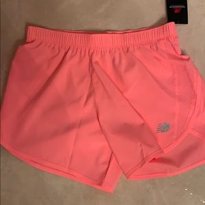 New Balance bright pink running athletic shorts